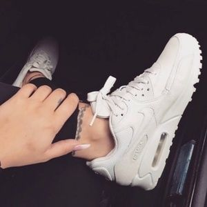 Nike Air Max 90 Leather Triple White New